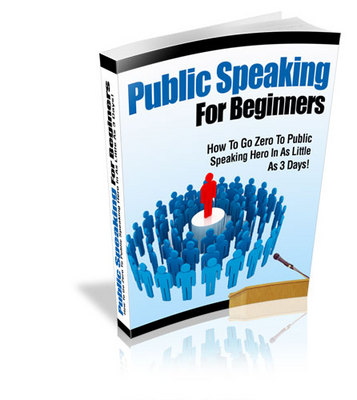Product picture Public Speaking For Beginners with Private Label Rigts