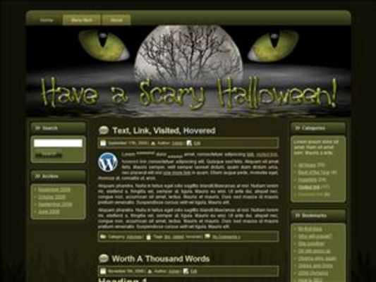 Product picture Halloween Scary WP Theme with Master Resell Rights