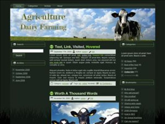Product picture Dairy Farming WP Theme with Master Resell Rights