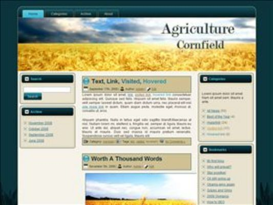 Product picture Cornfield WP Theme with Master Resell Rights