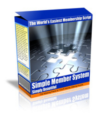 Product picture Simple Member System - Membership Script With MRR