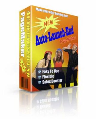 Product picture Auto Launch End Page Maker With Master Resell Rights