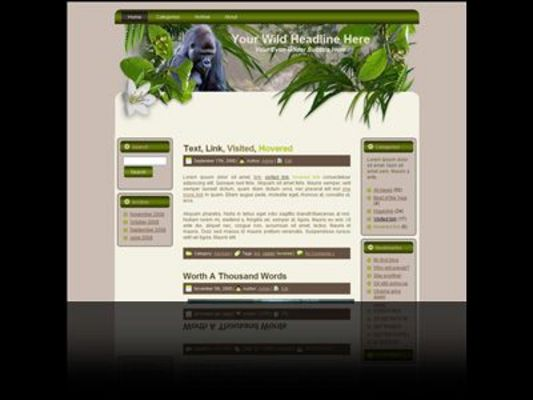 Product picture Goin Wild Minisite Template Plus WP Theme 1 With Master Res
