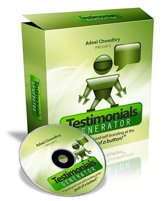 Product picture Testimonials Generator With Master Resell Rights