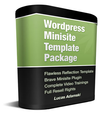 Product picture Flawless Reflection WordPress Minisite with Private Label Ri